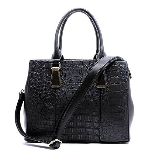 Croc Top Handle Satchel - orangeshine.com