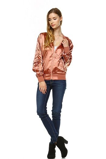 Rose Bomber Jacket - orangeshine.com