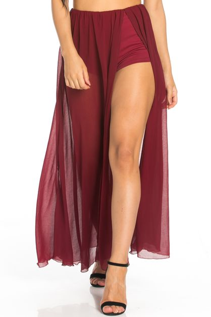 SHEER PANTY MAXI SKIRT - orangeshine.com