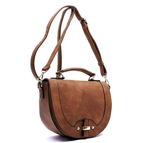 Flap Over Saddle Crossbody - orangeshine.com