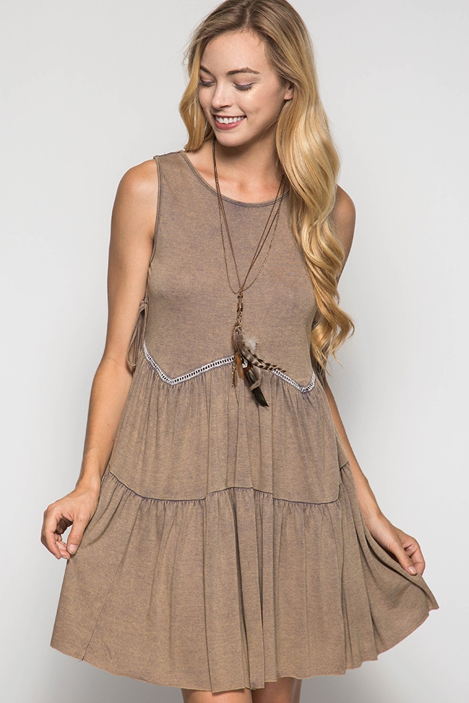 SL2829 ACID WASHED SWING DRESS - orangeshine.com