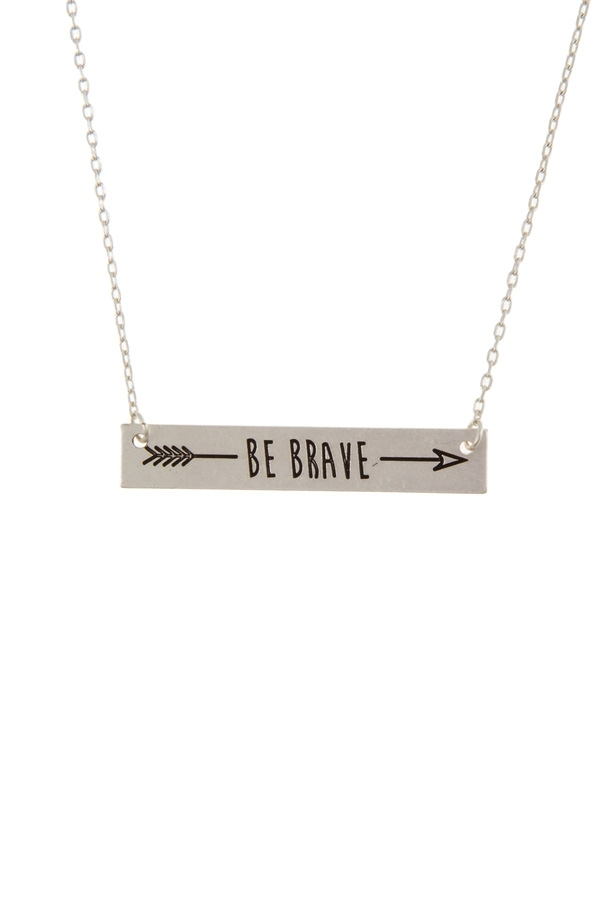 c25ad67021ce ICCO ACCESSORIES Wholesale Be Brave Etched Necklace