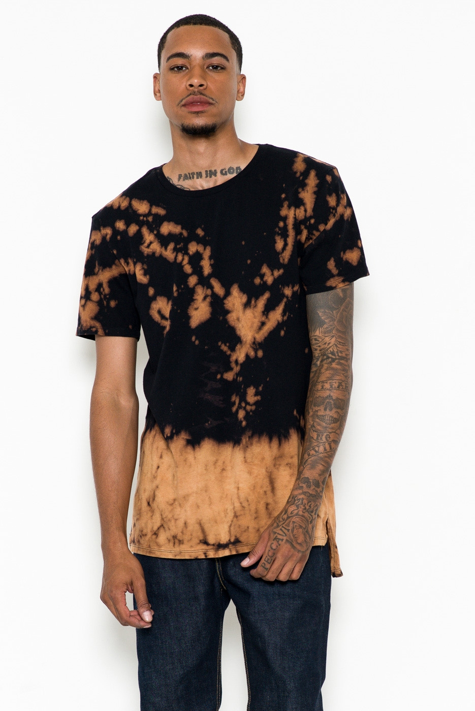 EXTENDED T-SHIRT - ACID WASH - orangeshine.com