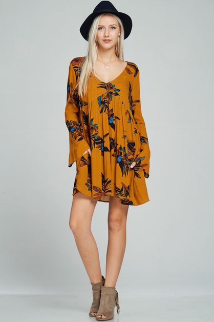 Beautiful Flower print dress - orangeshine.com