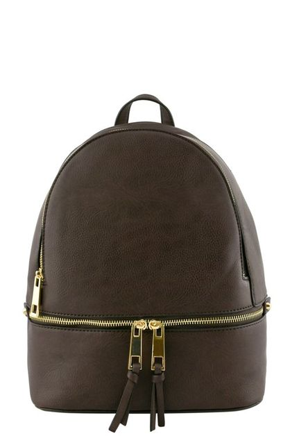 DESIGNER ZIPPER ACCENT BACKPACK - orangeshine.com