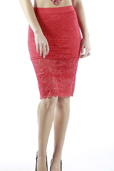 LONG LACE SKIRT - orangeshine.com
