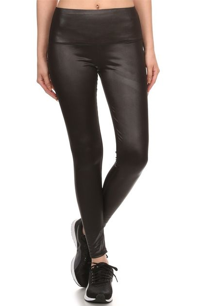 Faux Leather Leggings PU High Waist - orangeshine.com
