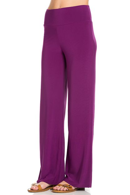 Poly Spandex Office Palazzo Pants - orangeshine.com