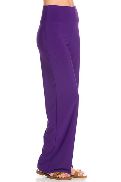 SOLID OFFICE PALAZZO PANTS - orangeshine.com
