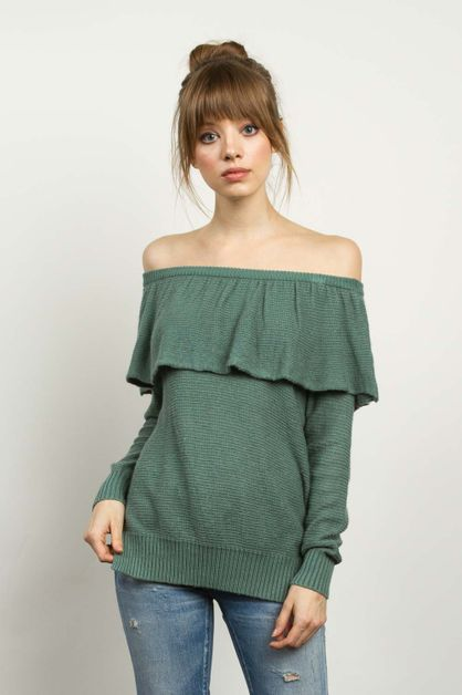 OFF SHOULDER SWEATER - orangeshine.com