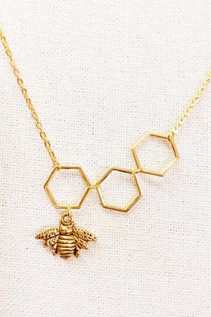 Honey Bee Necklace 18inch - orangeshine.com