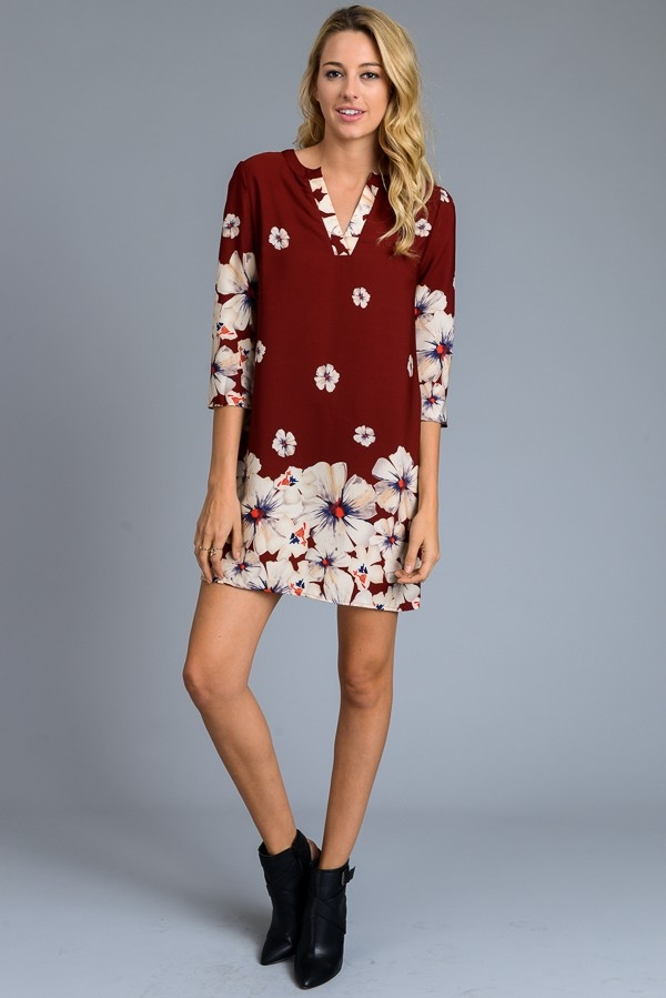 Floral Dress - orangeshine.com