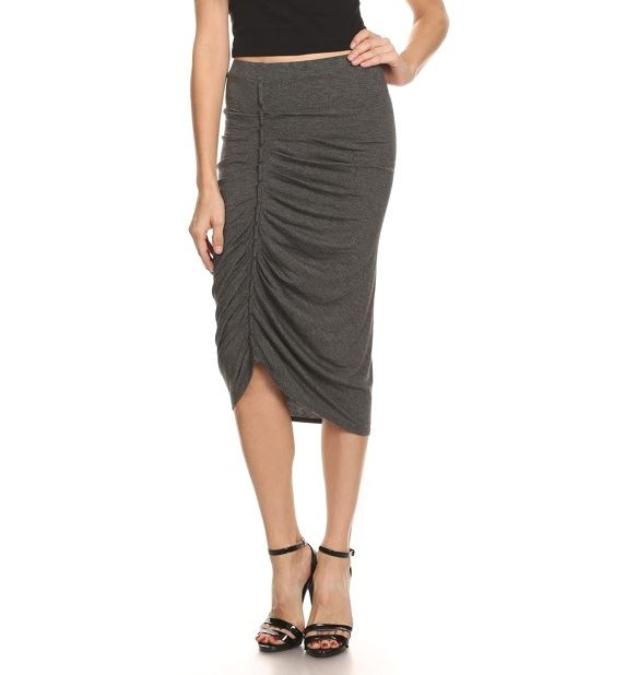Solid jersey knit pencil skirt - orangeshine.com