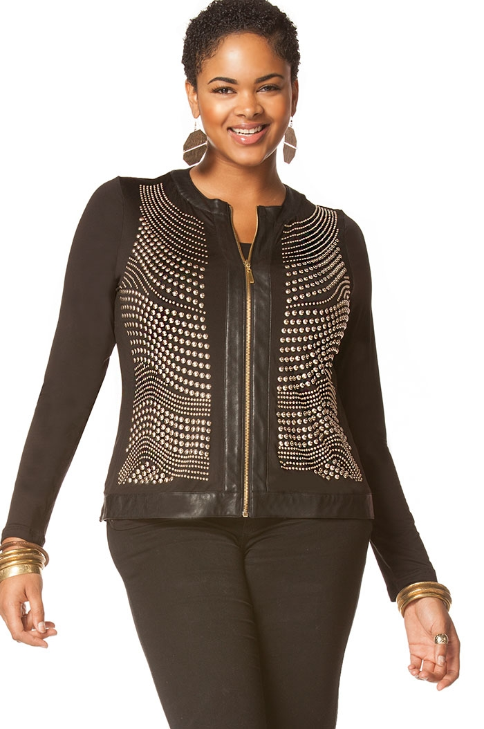 Studded jacket  - orangeshine.com