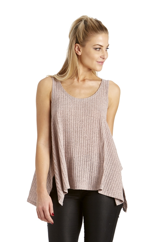 RIBBED SOLID TANK TOP - orangeshine.com