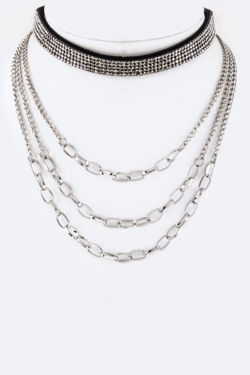 Choker & Layer Chains Necklace - orangeshine.com