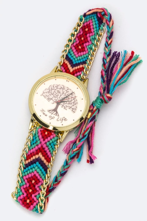 Wisdom Tree Crystal Misanga Watch - orangeshine.com