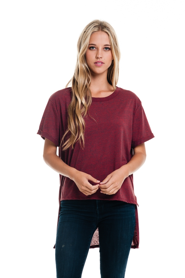SIDE-SLIT HIGH-LOW SOLID TOP - orangeshine.com