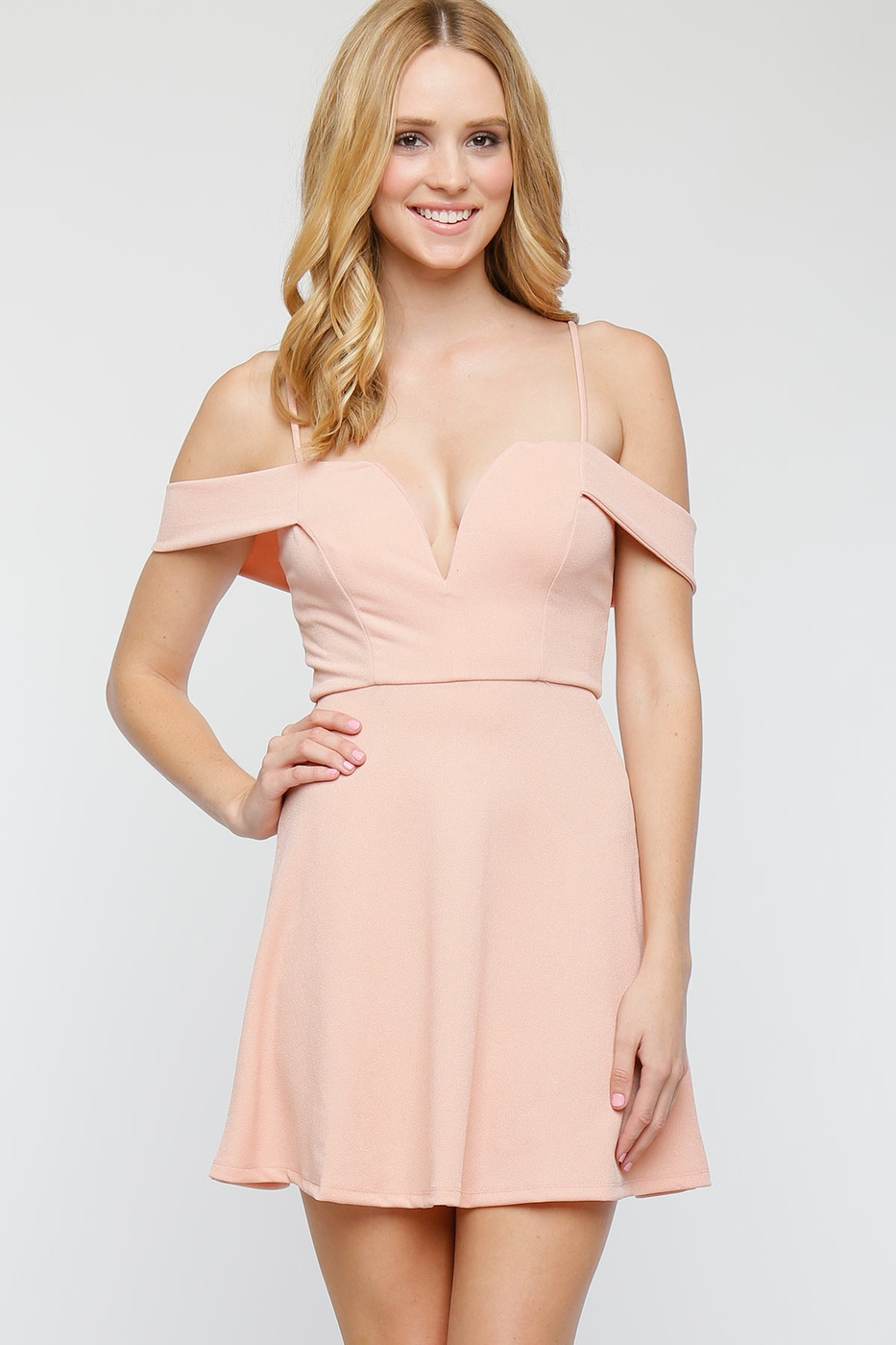Fit Flare Sweetheart Neckline Dress - orangeshine.com