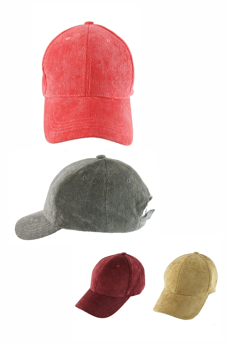 Fashion Corduroy Cap - orangeshine.com
