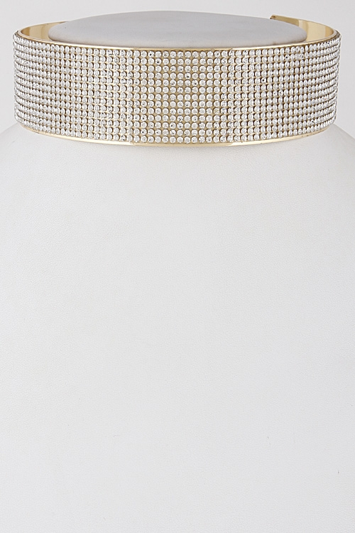 Casual Sparkle Open Choker Necklace - orangeshine.com