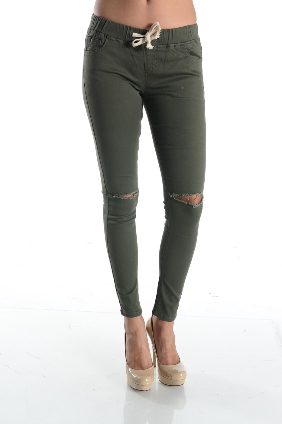 COLOR SKINNY PANTS - orangeshine.com
