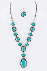 Precious Stone Necklace - orangeshine.com