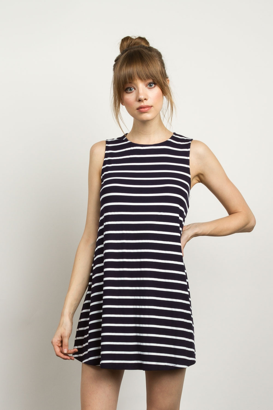 STRIPED SLEEVELESS - orangeshine.com