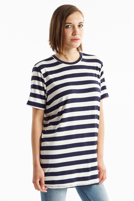 NAUTICAL STRIPE SHORTSLEEVE TUNIC - orangeshine.com