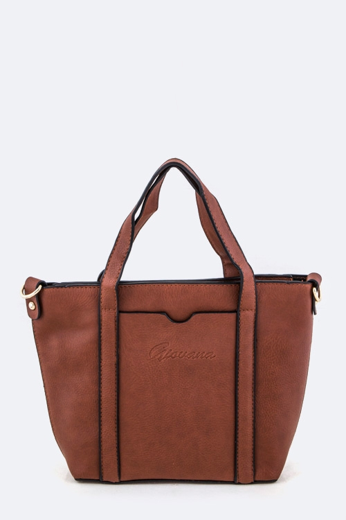 Leather Tote & Inner Pouch - orangeshine.com