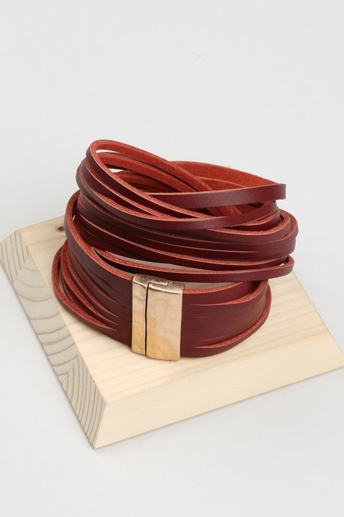 GENUINE LEATHER BRACELET  - orangeshine.com