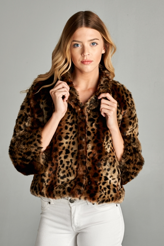 SHORT LEOPARD JACKET - orangeshine.com
