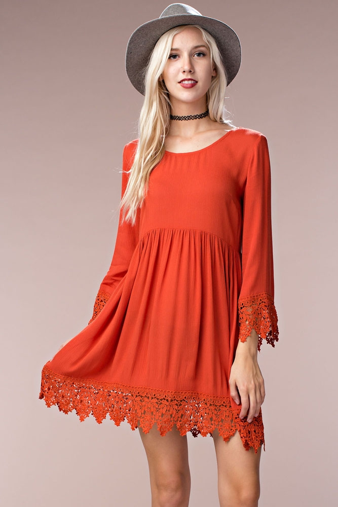 Open Cross Back Casual Dress - orangeshine.com