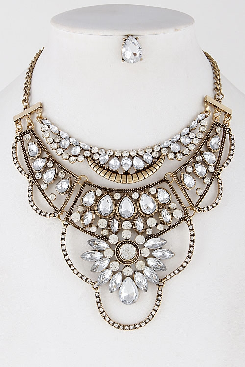 Glamorous Casual Indian Necklace - orangeshine.com