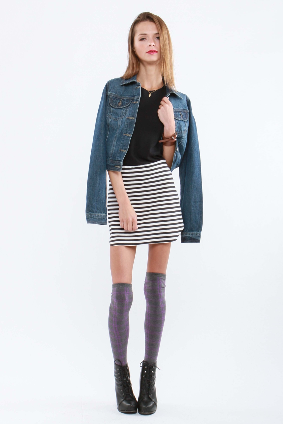 NAUTICAL STRIPED SKIRT - orangeshine.com