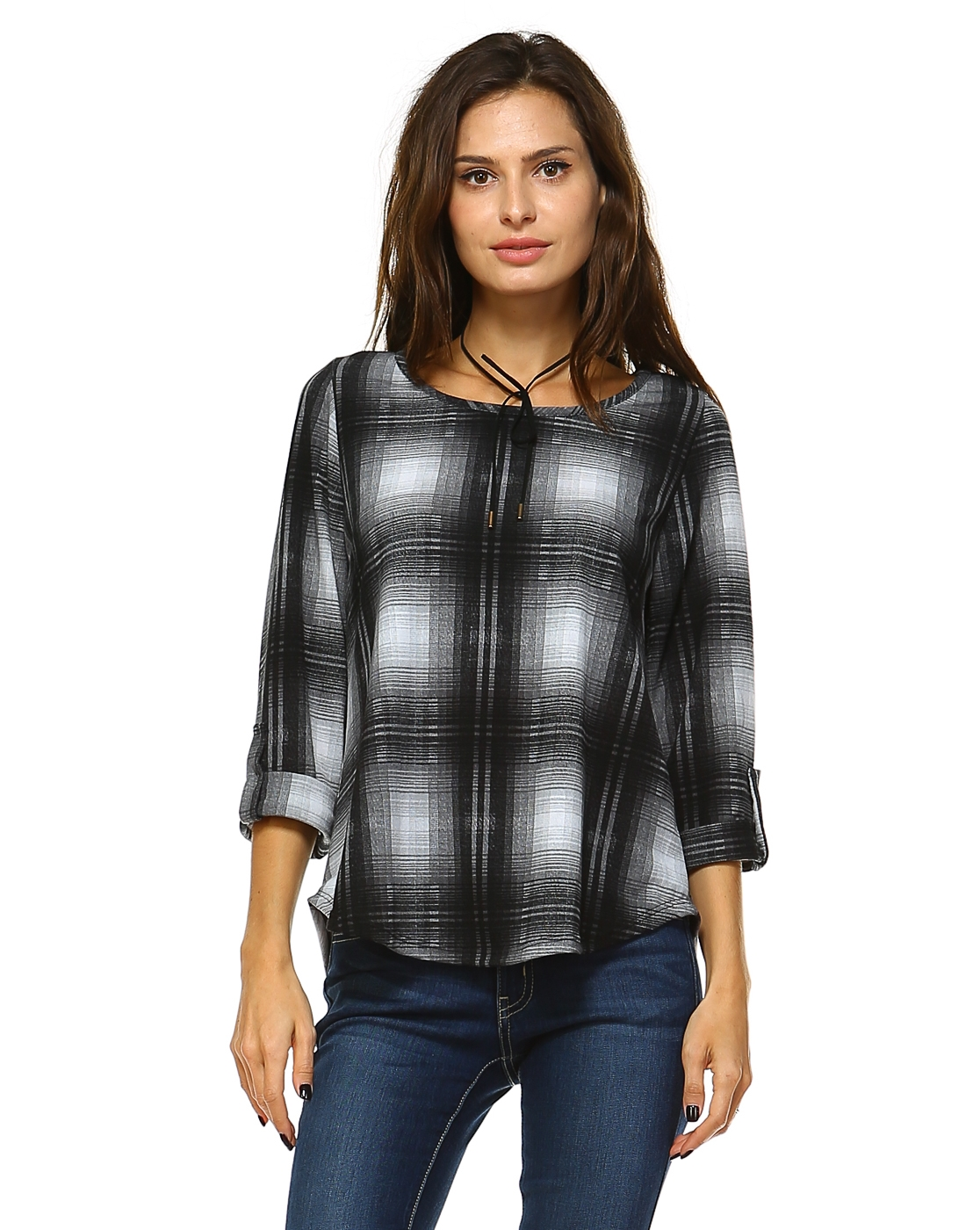Plaid Sweater - orangeshine.com