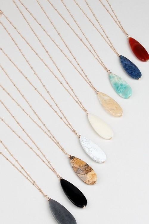 SUNBURST SHAPE STONE NECKLACE - orangeshine.com
