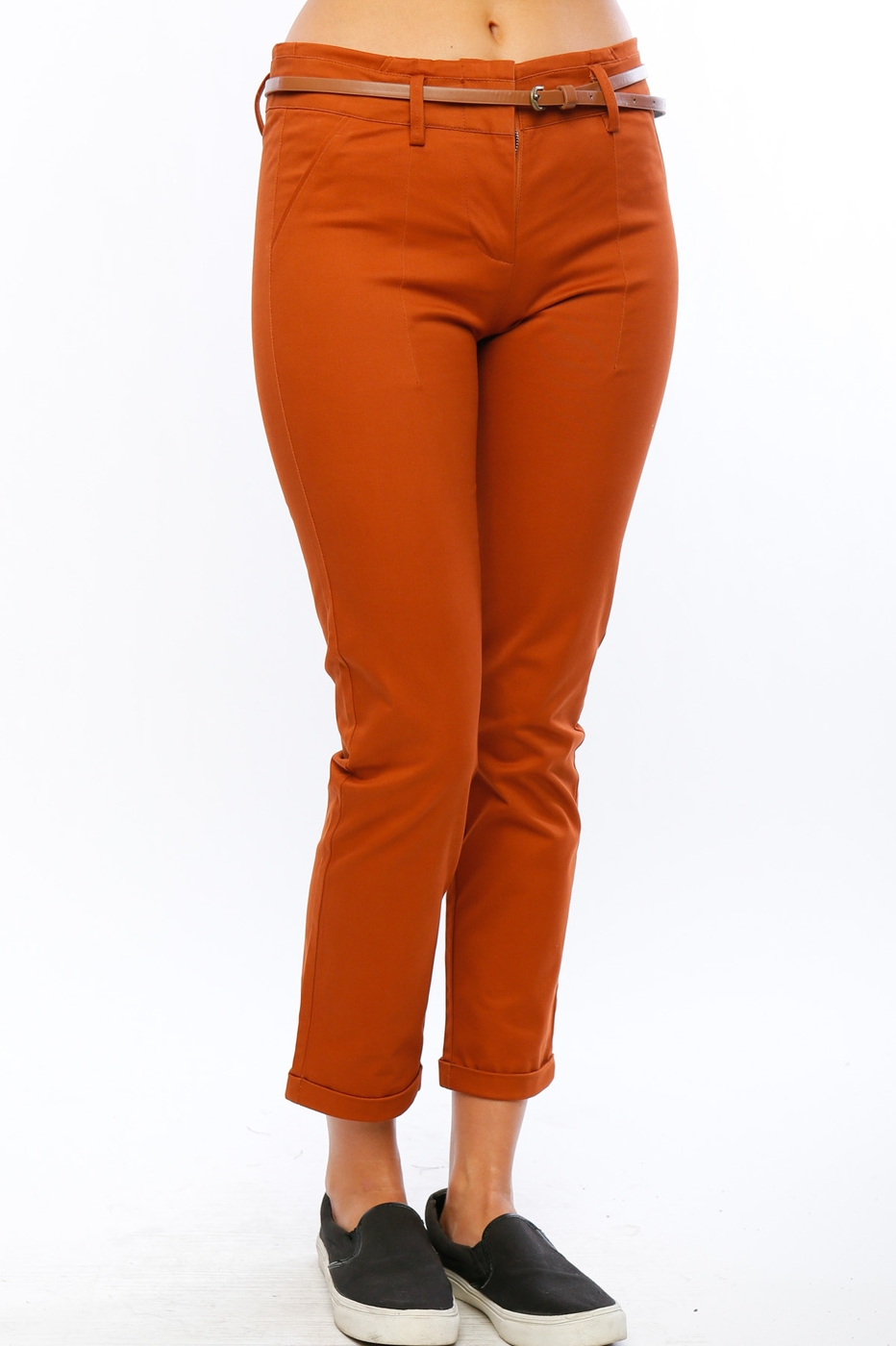Cuffed Ankle Pants - orangeshine.com