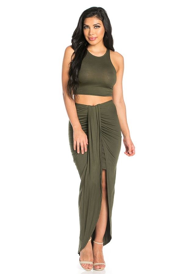 Draped skirt set - orangeshine.com