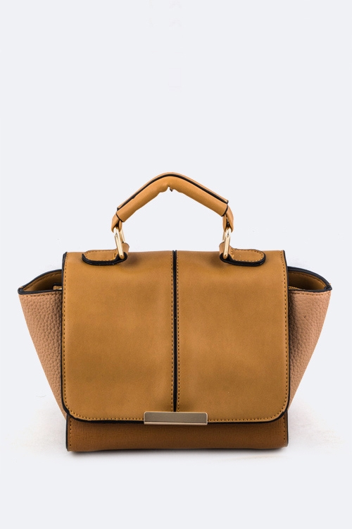 Mix Textured Convertible Mini Bag - orangeshine.com