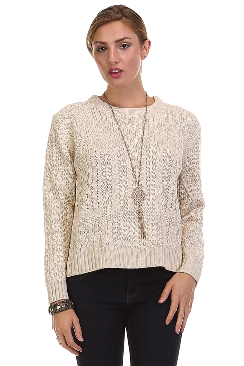 OATMEAL SWEATER TOP - orangeshine.com