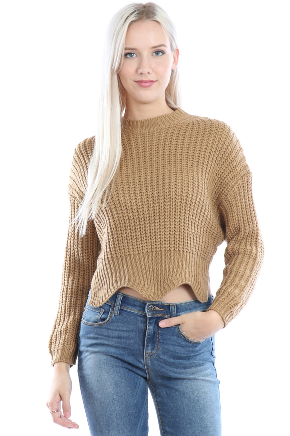 Cable Knit Sweater Pullover - orangeshine.com