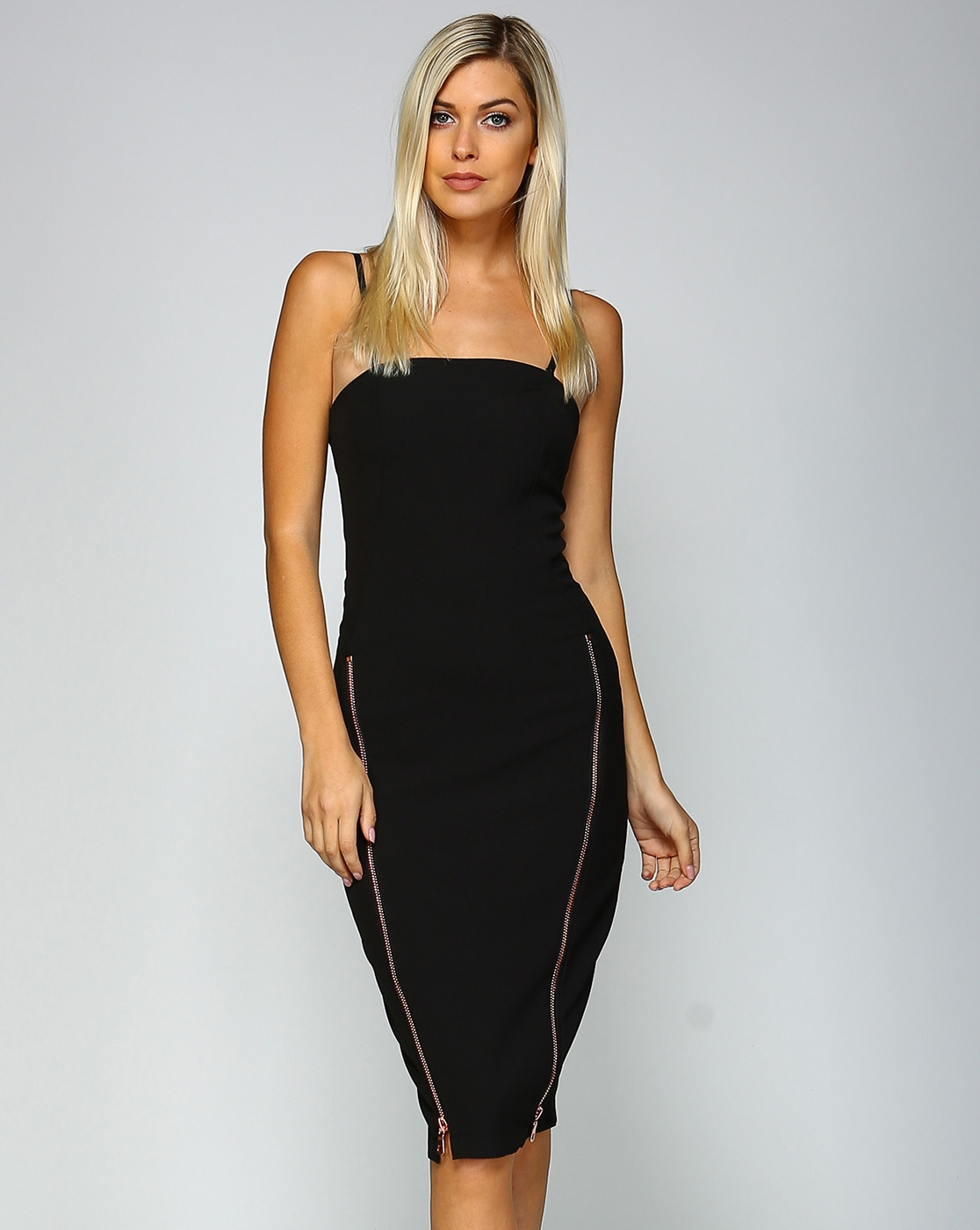 OPEN SHOULDER BODYCON DRESS - orangeshine.com