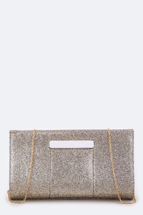 Glittered Fashion Clutch Bag - orangeshine.com