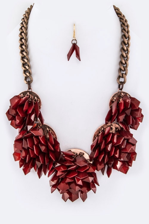 Fringe Beads Statement Necklace - orangeshine.com