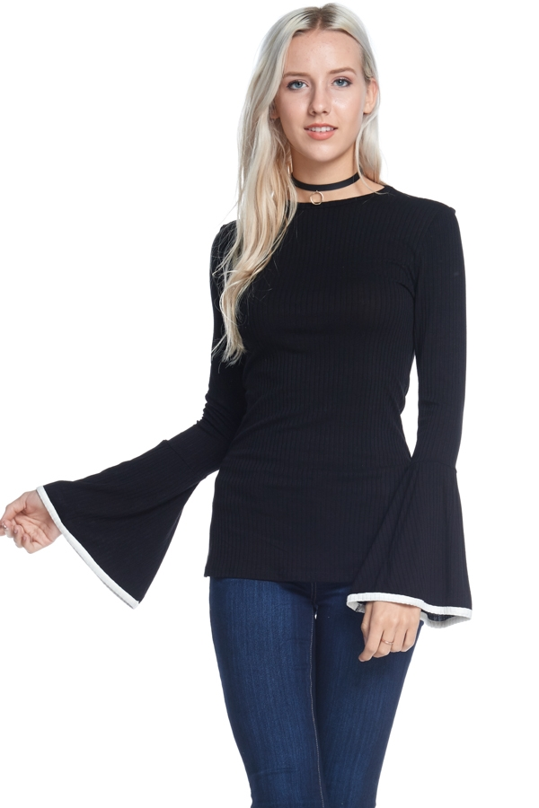 LONG SLEEVE SOLID TOP - orangeshine.com
