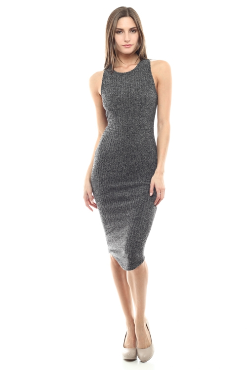 RIBBED TANK DRESS - orangeshine.com