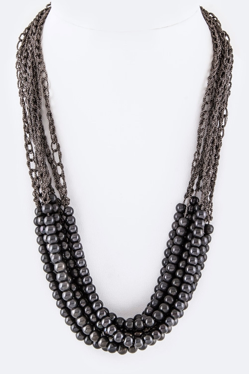 Beads Layer Necklace - orangeshine.com