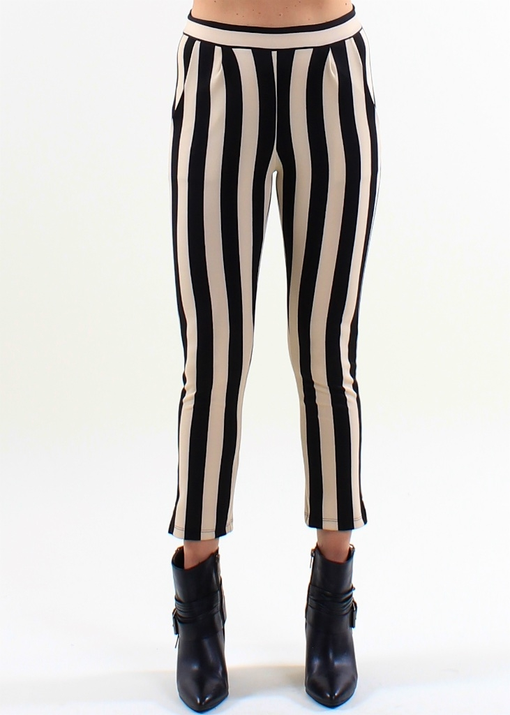 Striped Cropped Skinny - orangeshine.com