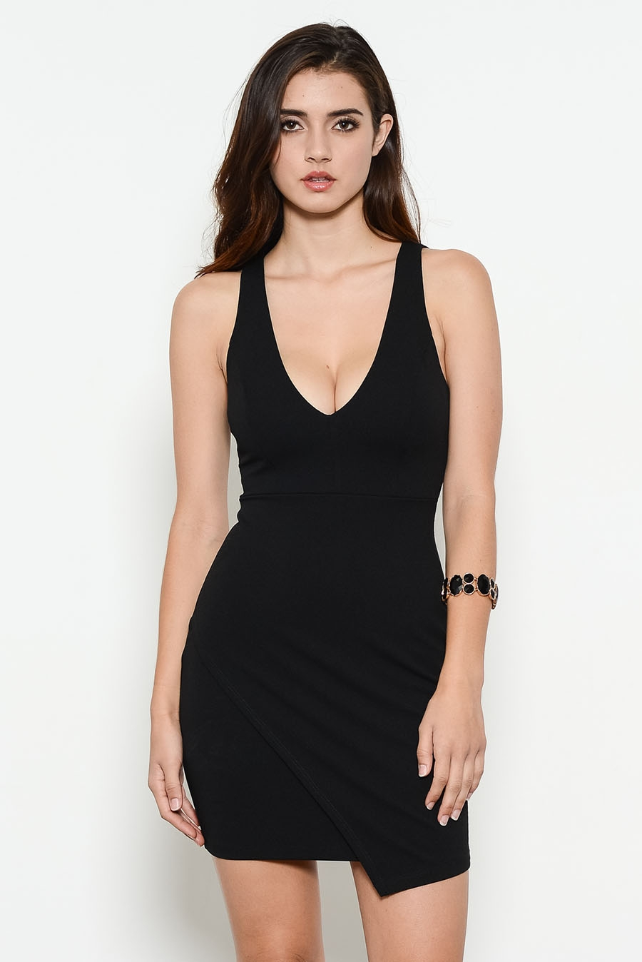 DEEP NECK STRAPPY BACK DRESS - orangeshine.com